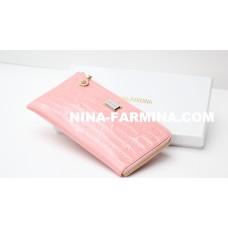 Клатч NF-2010B-PINK лаковая кожа