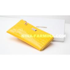 Клатч NF-2010B-YELLOW лаковая кожа