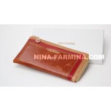 Клатч NF-2010JC-BROWN масляная кожа