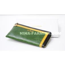Клатч NF-2010JC-DARK GREEN масляная кожа