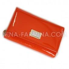 Кошелёк 9282_Orange лаковая кожа