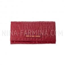 Кошелёк 751_Red кожа с тиснением