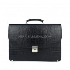Портфель мужской из натуральной кожи Karya 0123-53