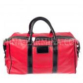 Дорожная сумка, искусственная кожа xl8714 Red Black