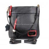 Клатч NINA FARMINA NF-935# Black Red