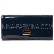Кошелек NF-9281-DARK BLUE лаковая кожа