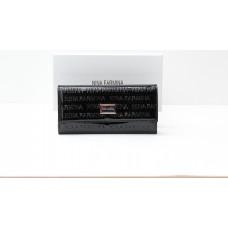 Кошелек NF 9280B BLACK лакированная кожа
